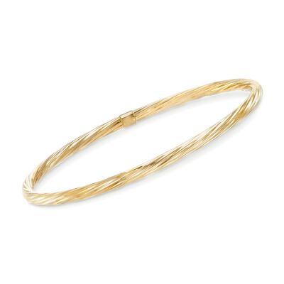 14kt Yellow Gold Polished Bangle Bracelet, , default
