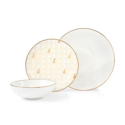 "Lenox ""Trianna White"" 12-pc. Porcelain Dinnerware Set"
