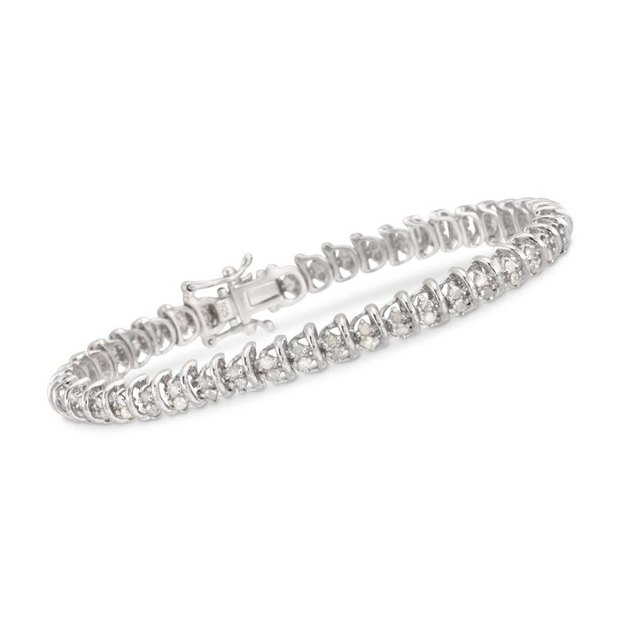 2.00 ct. t.w. Diamond Bar Bracelet in Sterling Silver, , default