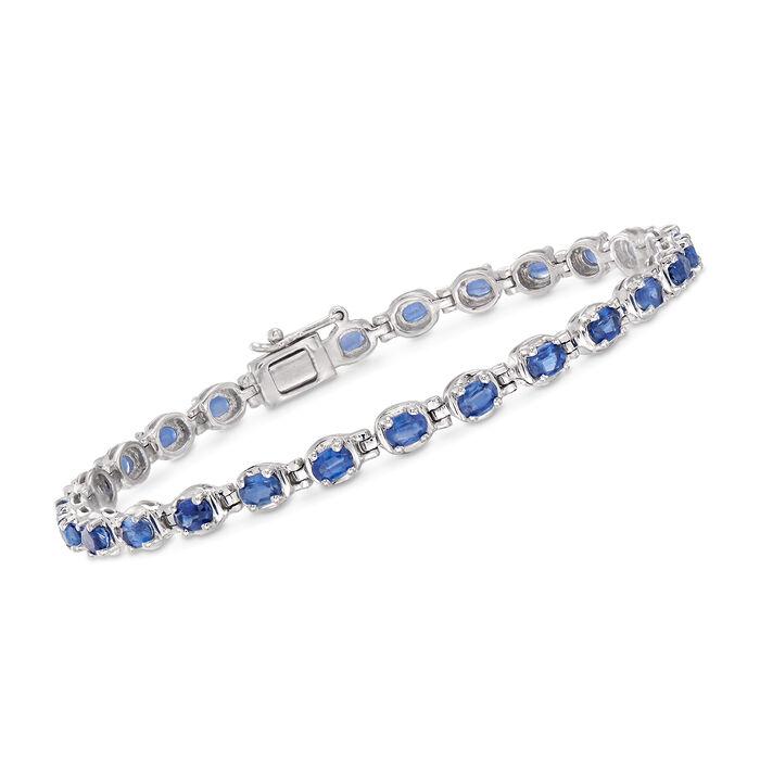 """6.00 ct. t.w. Kyanite Bracelet in Sterling Silver. 7"""""""