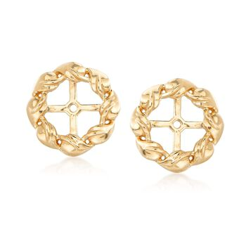 .33 ct. t.w. Diamond Jewelry Set: Earrings and Earring Jackets in 14kt Yellow Gold