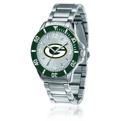 Men's 46mm NFL Green Bay Packers Stainless Steel Key Watch
