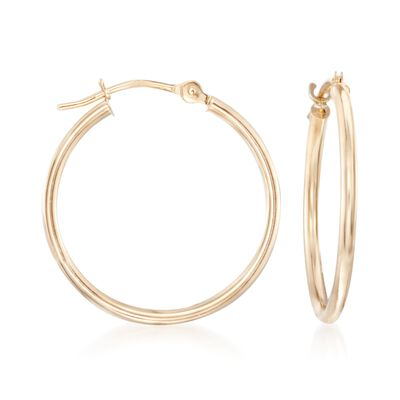 14kt Yellow Gold Hoop Earrings , , default