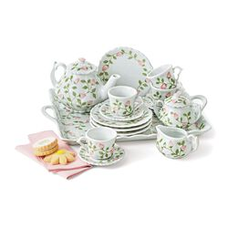 "Child's ""Rosebud"" Porcelain Tea Set, , default"