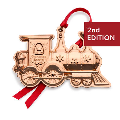 """Wallace 2020 """"Vintage Toys"""" Copper Train Ornament - 2nd Edition"""