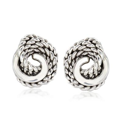 Sterling Silver Roped Knot Earrings