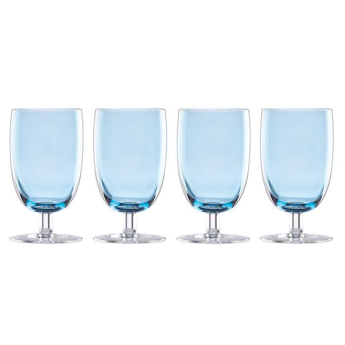 "Lenox ""Valencia"" Set of 4 Blue All-Purpose Glasses"