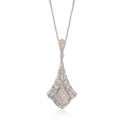 .33 ct. t.w. Diamond Pendant Necklace in Sterling Silver, , default