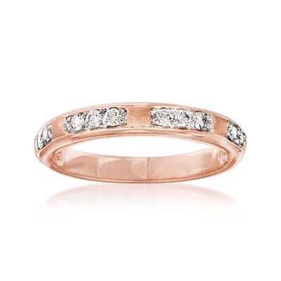 .23 ct. t.w. Diamond Station Ring in 14kt Rose Gold, , default