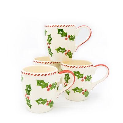 """Euro Ceramica """"Natal"""" Set of 4 Mugs, , default"""