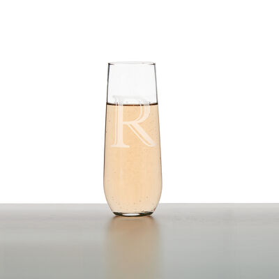 Glass Personalized Champagne Flutes, , default