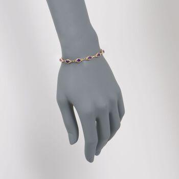 """5.00 ct. t.w. Amethyst Bracelet in 14kt Yellow Gold. 7"""", , default"""