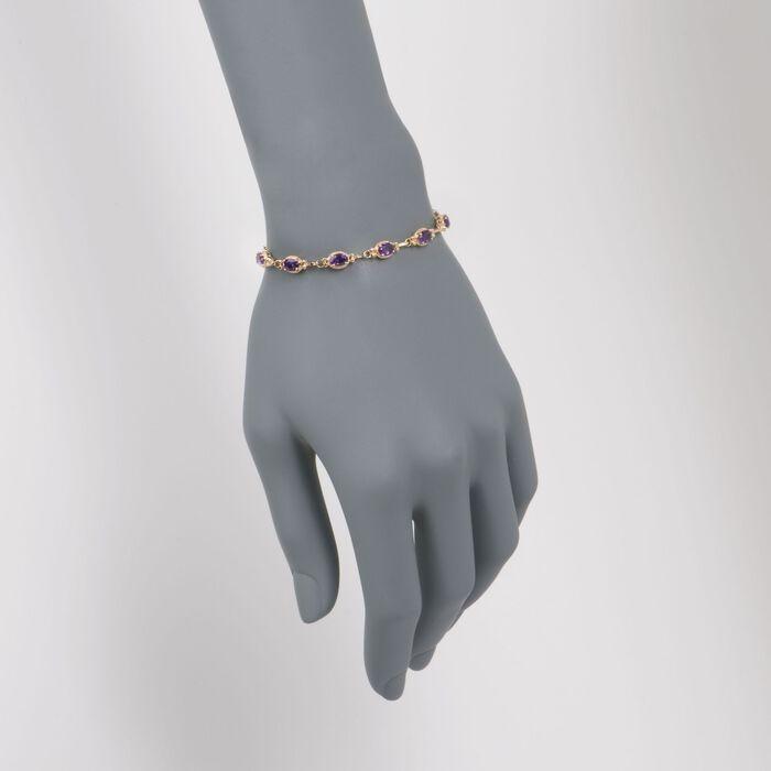 5.00 ct. t.w. Amethyst Bracelet in 14kt Yellow Gold