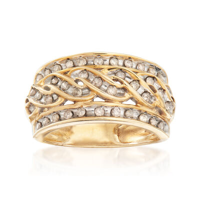 C. 1980 Vintage .50 ct. t.w. Diamond Ring in 10kt Yellow Gold, , default