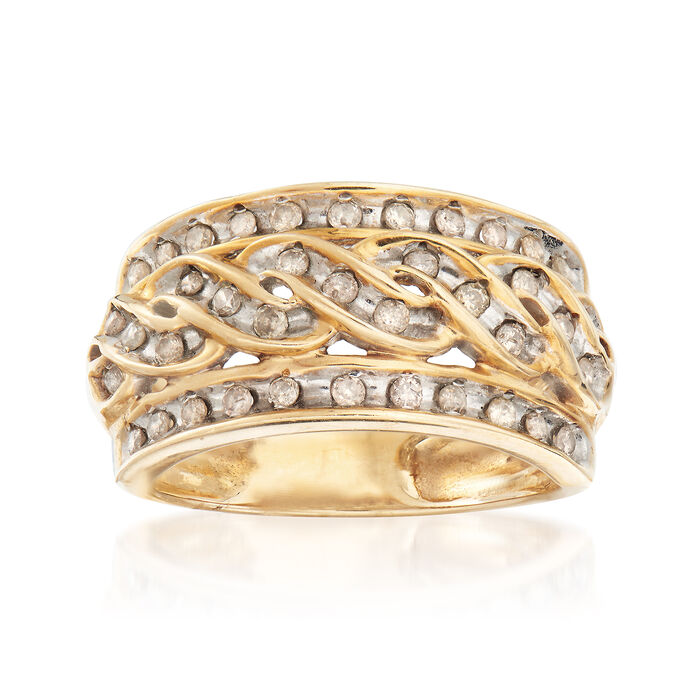C. 1980 Vintage .50 ct. t.w. Diamond Ring in 10kt Yellow Gold. Size 7, , default