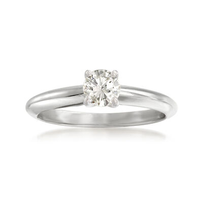 .50 Carat Diamond Solitaire Ring in 14kt White Gold, , default