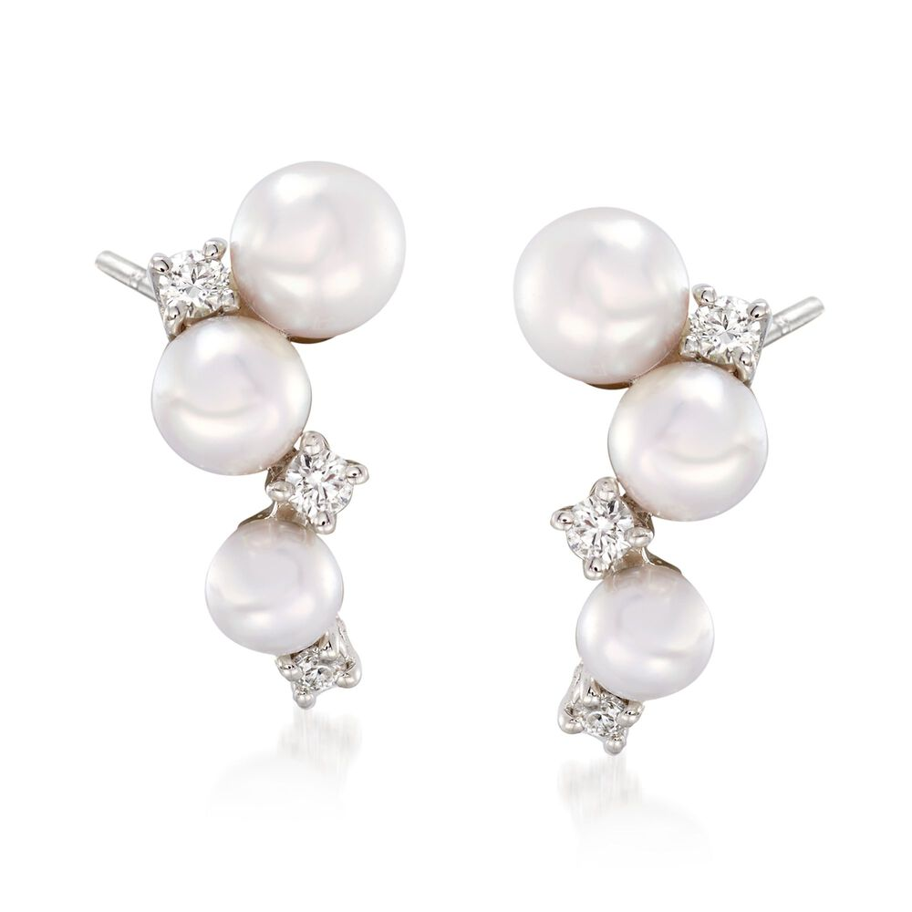 Mikimoto Bubbles 3 25 4 25mm Akoya Pearl Cer Drop Earrings With Diamond