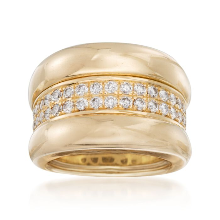 C. 2000 Vintage Chopard .70 ct. t.w. Diamond Ring in 18kt Yellow Gold. Size 5