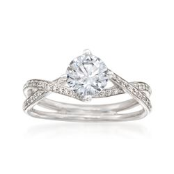 Simon G. .18 ct. t.w. Diamond Engagement Ring Setting in 18kt White Gold, , default