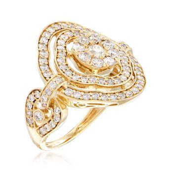 1.50 ct. t.w. Diamond Openwork Ring in 14kt Yellow Gold, , default