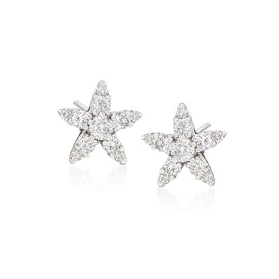 "Roberto Coin ""Tiny Treasures"" .66 ct. t.w. Diamond Earrings in 18kt White Gold, , default"