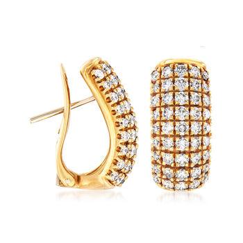 C. 1990 Vintage 2.25 ct. t.w. Diamond Drop Earrings in 18kt Yellow Gold