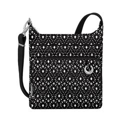 "Travelon ""Anti-Theft Boho"" Geometric Shell Crossbody Bag, , default"