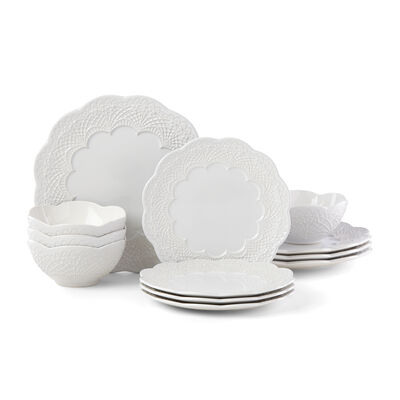 "Lenox ""Chelse Muse White"" 12-pc. Dinnerware Set, , default"