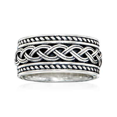 Sterling Silver Trinity Knot Ring, , default