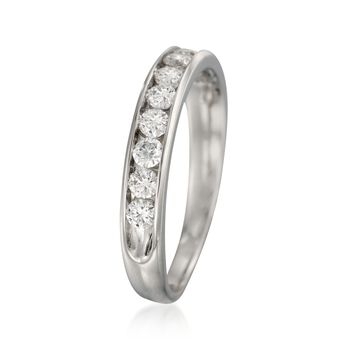 .75 ct. t.w. 10-Stone Diamond Wedding Ring in 14kt White Gold, , default
