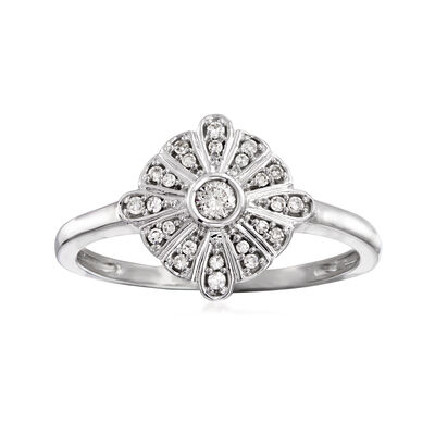 .15 ct. t.w. Diamond Disc Ring in 14kt White Gold, , default