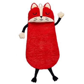 Child's Fox Plush Sleeping Bag, , default