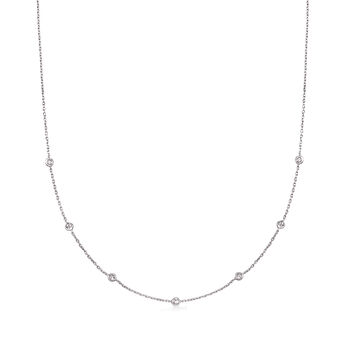 .20 ct. t.w. Diamond Station Necklace in Sterling Silver, , default