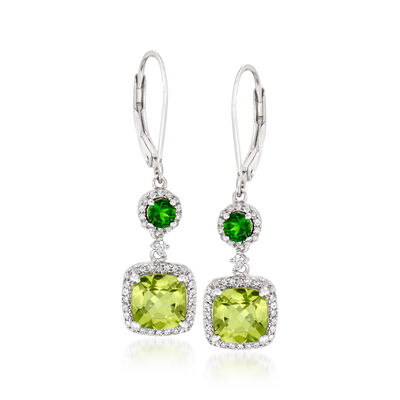 3.84 ct. t.w. Multi-Gemstone Drop Earrings in Sterling Silver