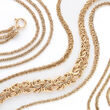14kt Yellow Gold Graduated Byzantine Necklace
