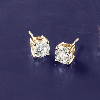 3.00 ct. t.w. Diamond Stud Earrings in 14kt Yellow Gold, , default