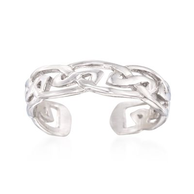 Sterling Silver Fancy Knot Toe Ring, , default