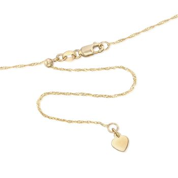 Italian .8mm 14kt Yellow Gold Adjustable Singapore Chain Necklace, , default