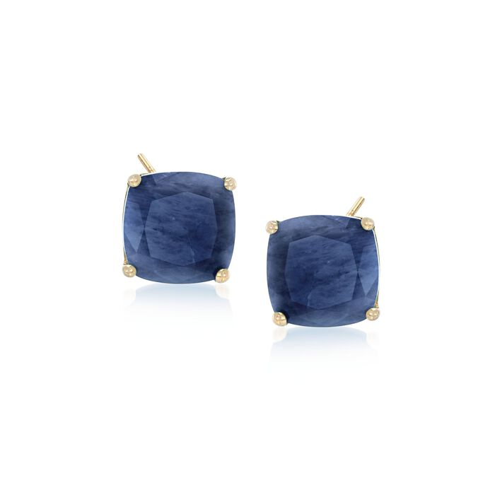 7.75 ct. t.w. Opaque Sapphire Earrings in 14kt Yellow Gold