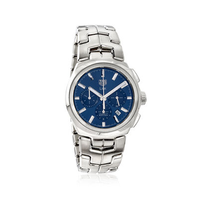 TAG Heuer Link Men's 42mm Auto Chronograph Stainless Steel Watch - Blue Dial, , default