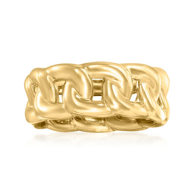 Italian Andiamo 14kt Yellow Gold Curb-Link Ring