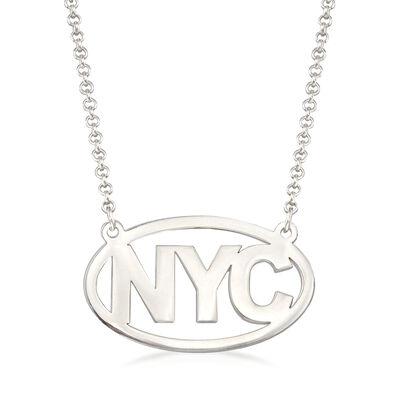 Sterling Silver Personalized Destination Necklace, , default