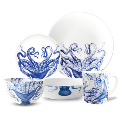 "Caskata ""Blue Lucy"" Blue and White Porcelain Dinnerware, , default"