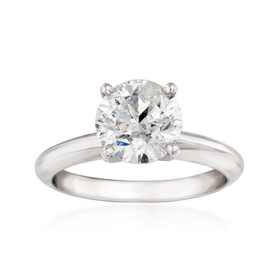 2.08 Carat Diamond Solitaire Ring in 14kt White Gold