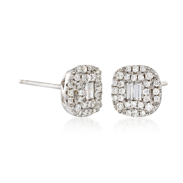 Gregg Ruth .58 ct. t.w. Diamond Earrings in 18kt White Gold