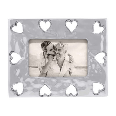 "Mariposa ""First Comes Love"" Open Heart Border 4x6 Frame"
