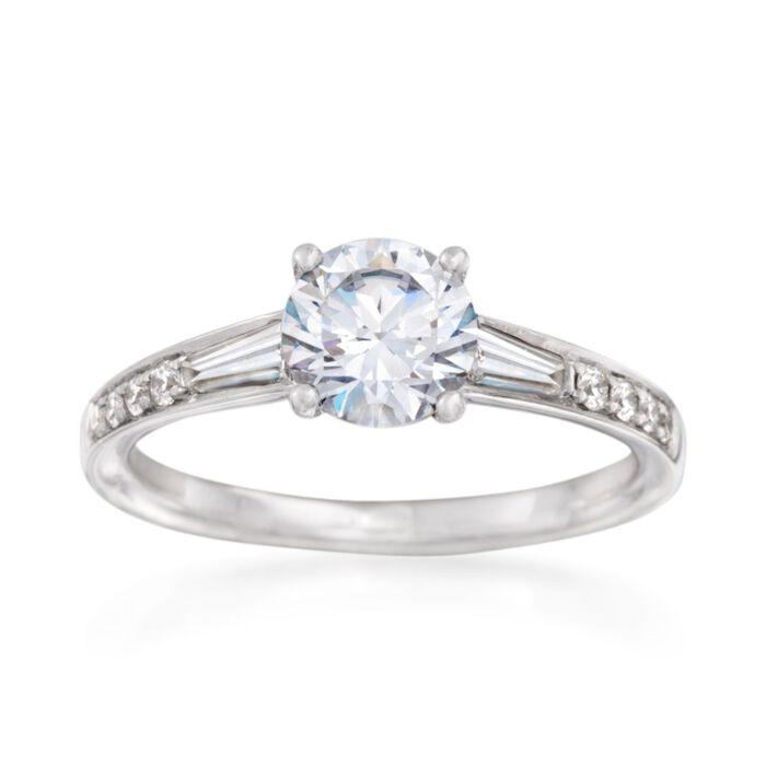 Simon G. .38 ct. t.w. Diamond Engagement Ring Setting in 18kt White Gold