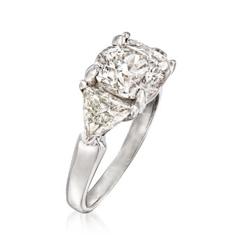 Majestic Collection 4.30 ct. t.w. Diamond Ring in 14kt White Gold. Size 7