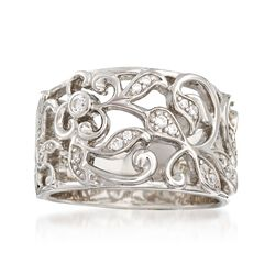 "Belle Etoile ""Empress"" .20 ct. t.w. CZ Ring in Sterling Silver, , default"