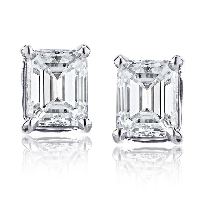 .70 ct. t.w. Certified Diamond Stud Earrings in Platinum